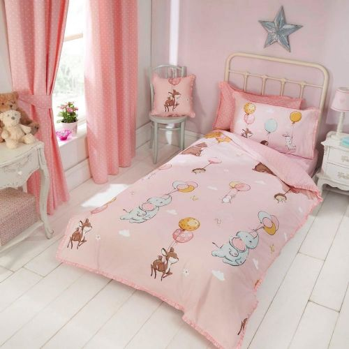 """Float Away"", Toddler Duvet Set, Pink, easy-care ""Belle Amie"" by Rapport"